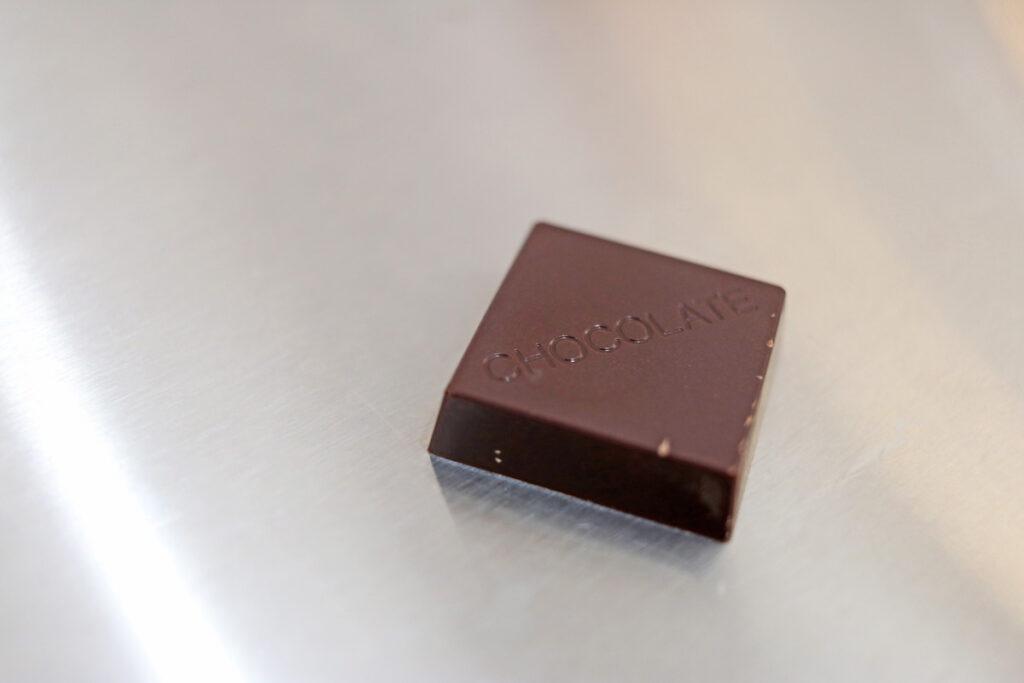 離型されたチョコレート